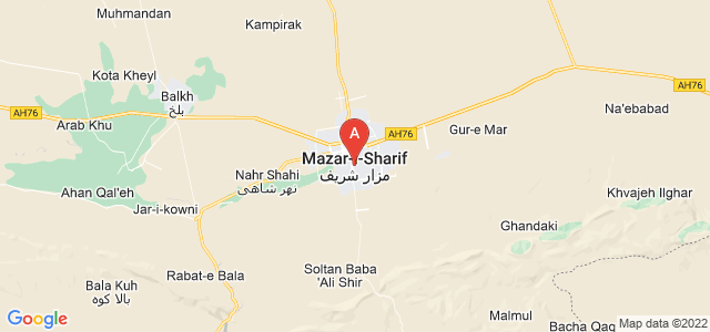 map of Mazar-i-Sharif, Afghanistan