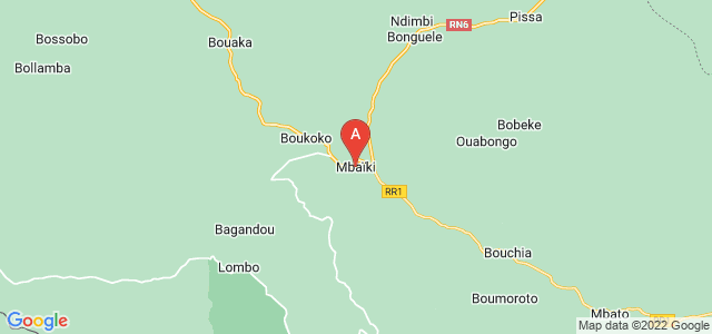 map of Mbaïki, Central African Republic