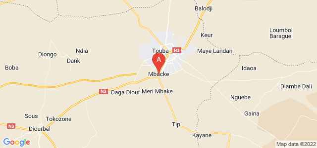 map of Mbacké, Senegal