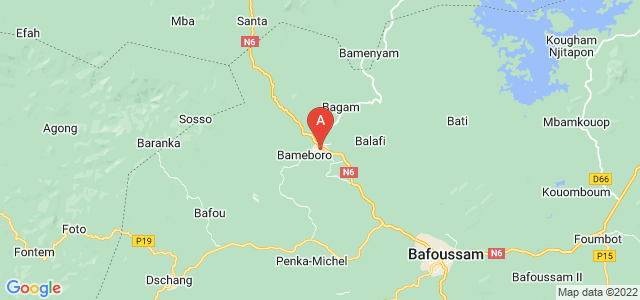 map of Mbouda, Cameroon