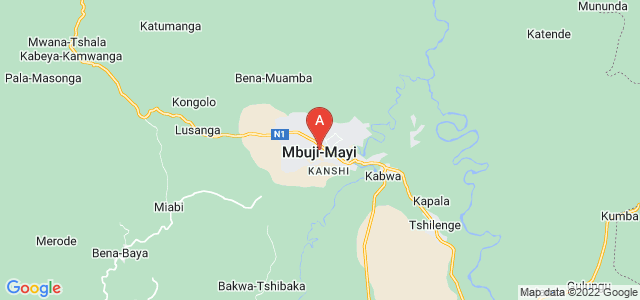 map of Mbuji-Mayi, Democratic Republic of the Congo