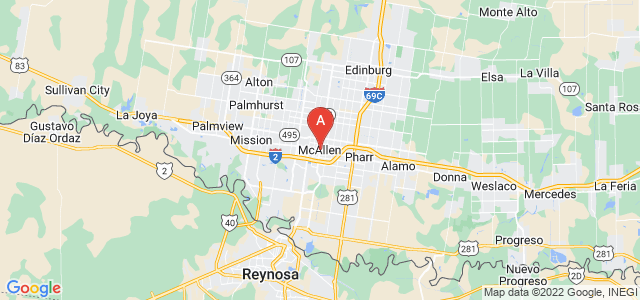 map of McAllen, United States of America