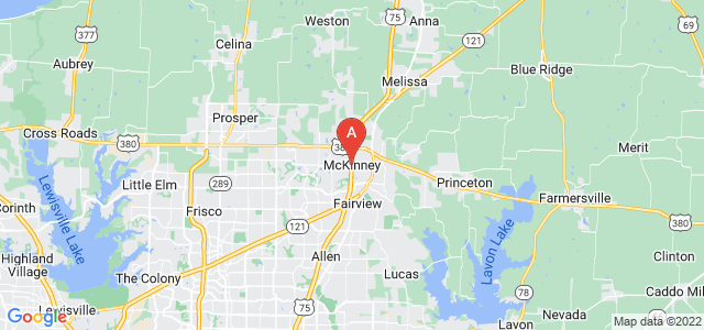 map of McKinney, United States of America