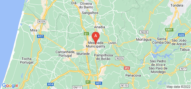 map of Mealhada, Portugal