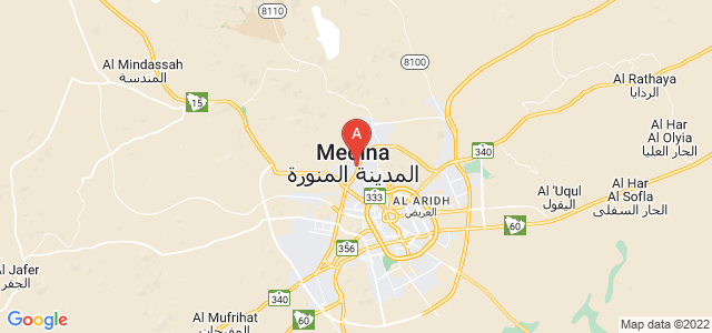 map of Medina, Saudi Arabia