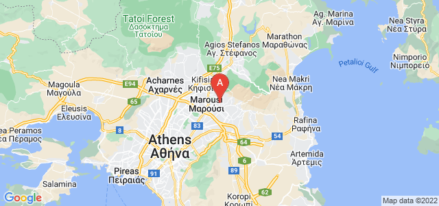 map of Melissia, Greece