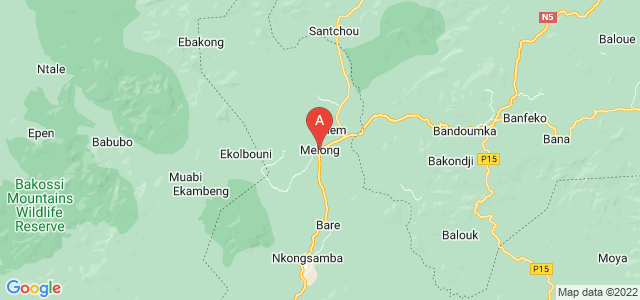 map of Melong, Cameroon