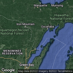 Static Map of Menominee County, Michigan