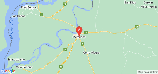 map of Mercedes, Uruguay