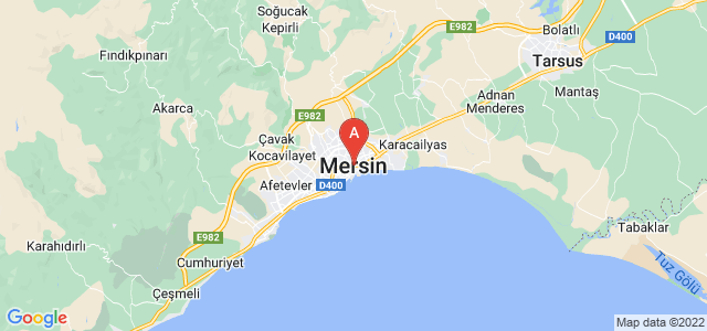 map of Mersin, Turkey