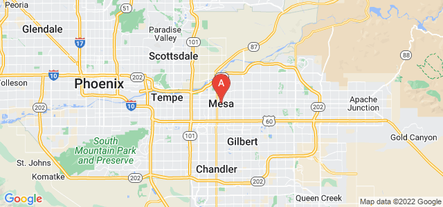 map of Mesa, United States of America