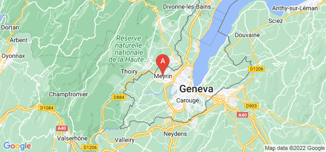 map of Meyrin, Switzerland