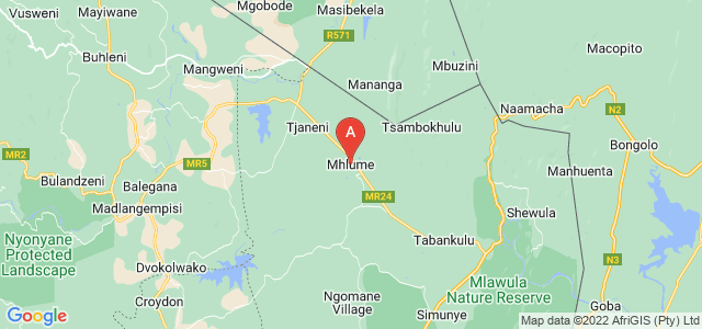 map of Mhlume, Swaziland