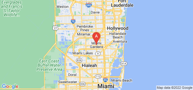 map of Miami Gardens, United States of America