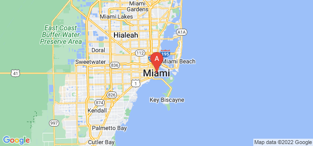map of Miami, United States of America