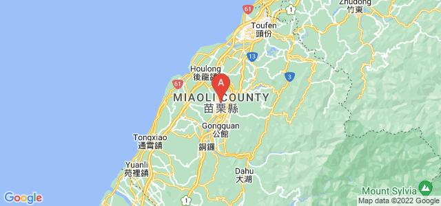 map of Miaoli, Taiwan