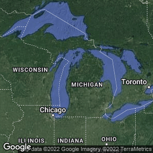 Static Map of Michigan