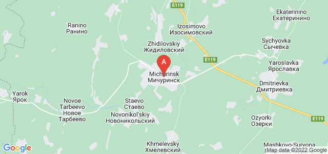 map of Michurinsk, Russia