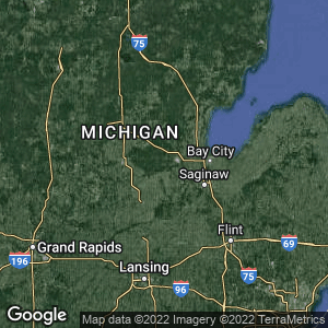 Static Map of Midland County, Michigan