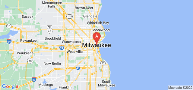 map of Milwaukee, United States of America
