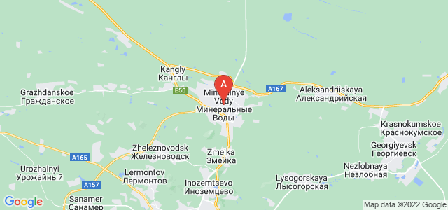 map of Mineralnye Vody, Russia