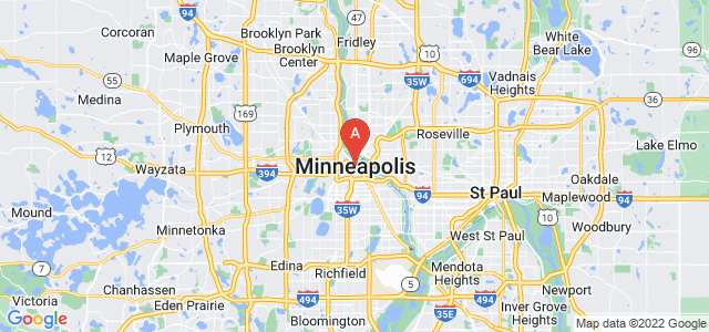 map of Minneapolis, United States of America
