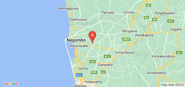 map of Minuwangoda, Sri Lanka