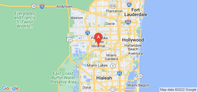 map of Miramar, United States of America
