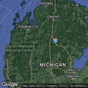 Static Map of Missaukee County, Michigan