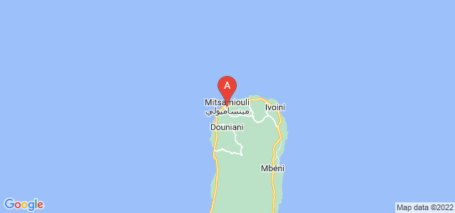 map of Mitsamiouli, Comoros