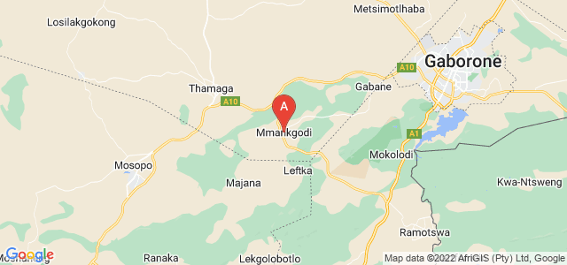 map of Mmankgodi, Botswana