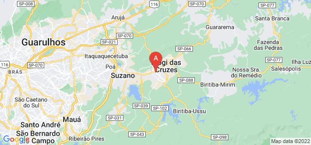 map of Mogi das Cruzes, Brazil