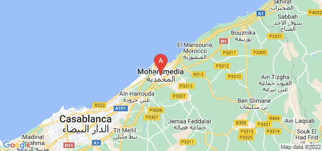 map of Mohammedia, Morocco