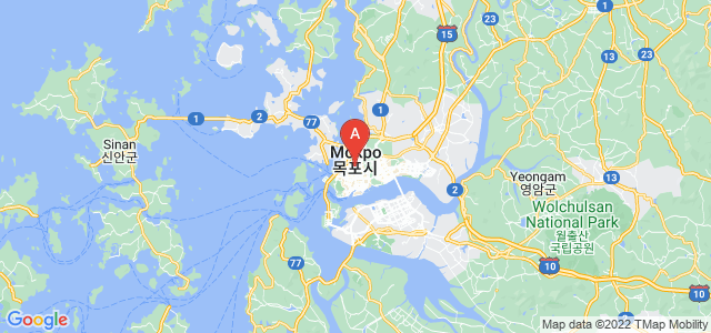 map of Mokpo, South Korea