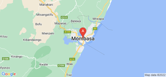 map of Mombasa, Kenya