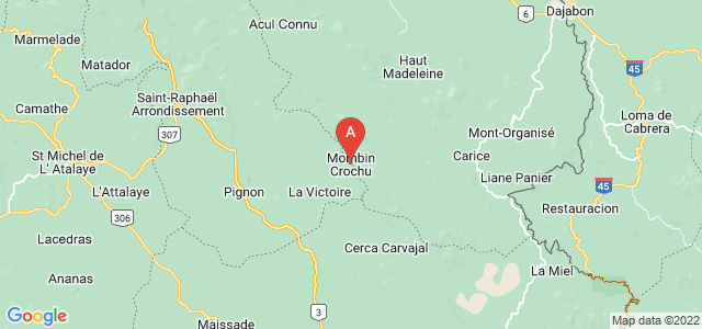 map of Mombin-Crochu, Haiti