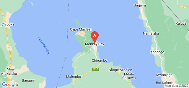 map of Monkey Bay, Malawi