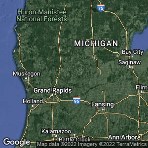 Static Map of Montcalm County, Michigan