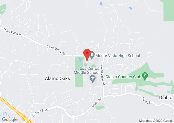 Map of Monte Vista Swimming Pool, Danville, CA, United States