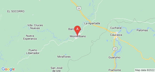 map of Montelíbano, Colombia