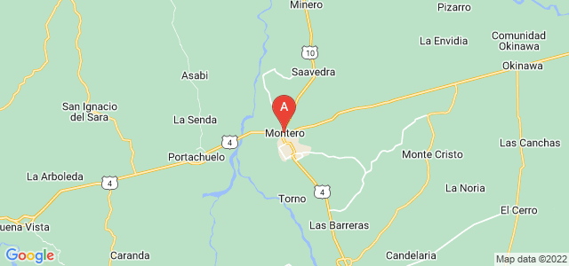 map of Montero, Bolivia