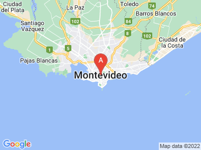 map of Montevideo, Uruguay