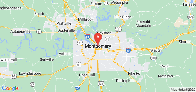 map of Montgomery, United States of America