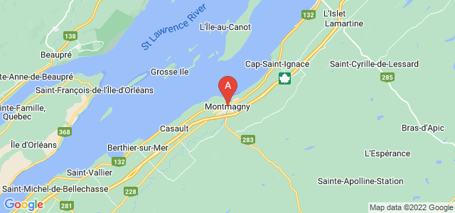 map of Montmagny, Canada