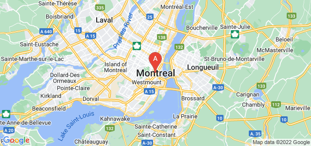 map of Montreal, Canada