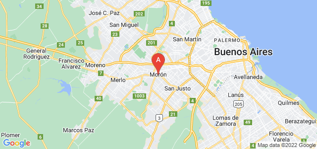 map of Morón, Argentina