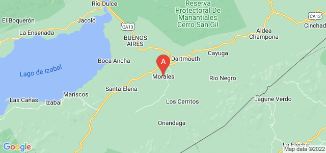 map of Morales, Guatemala