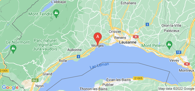 map of Morges, Switzerland