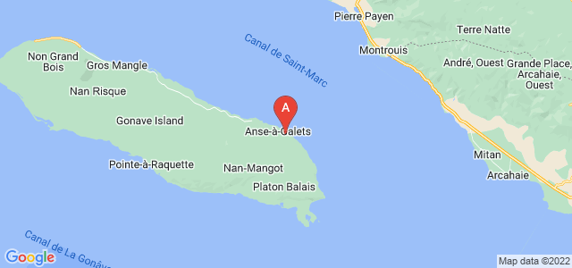 map of Morne-à-Chandelle, Haiti