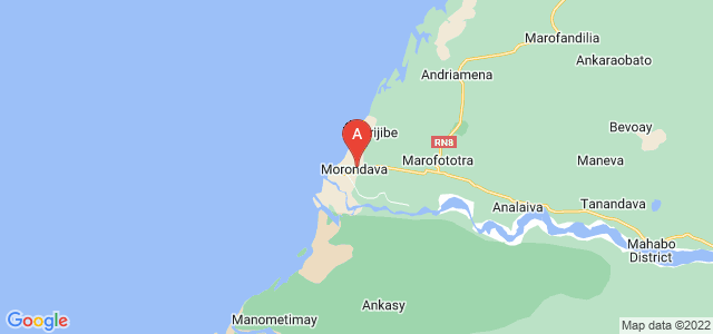 map of Morondava, Madagascar